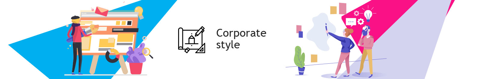 Form style. Development of corporate style company to order.