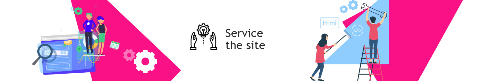 Site maintenance. High-quality service of your site.