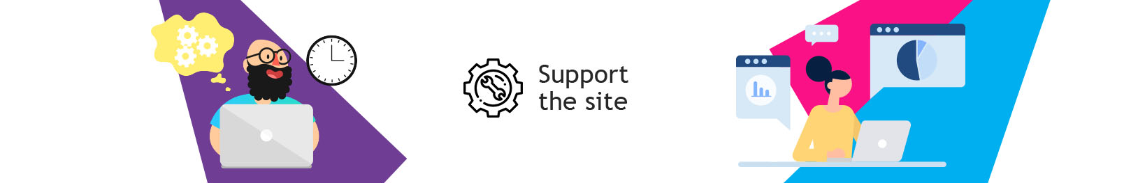 Site Support. Technical support of the site. Technical support services site