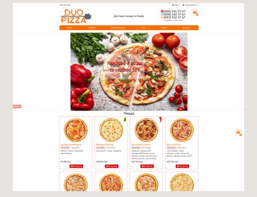Разработка сайта для популярной пиццерии Duo Pizza