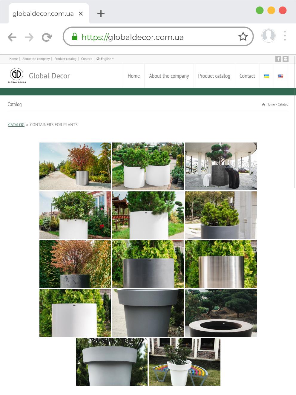 Сайт по производству дизайнерских новогодних украшений Global Market
